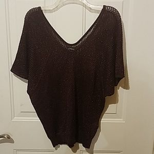 Express small purple Sparkle sweater